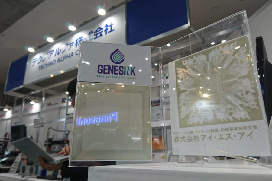 GenesInk demonstrate printed electronic ability at JPCA show in Tokyo